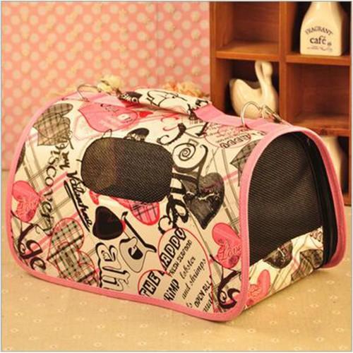 Outdoor Carrier Pet Bag Carrier Folding Small Carrier Bag Cat Travel Carrier Shoulder Breathable Portable