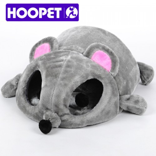 Grey Mouse Shape Bed for Small Cats Cave Bed Removable Cushion waterproof Bottom Pet
