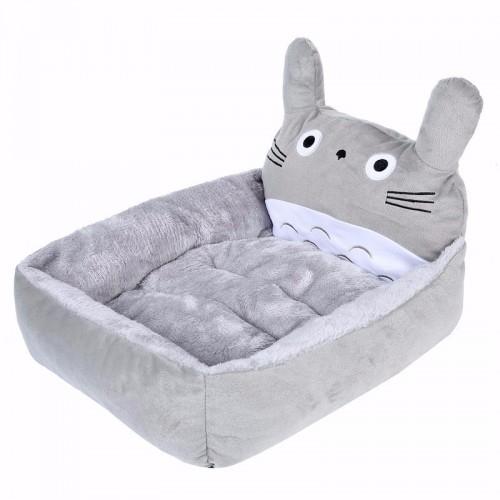 Lovely Cartoon Cat Beds Mats Cozy Warm Fleece Pet Cats Bed Cotton Washable