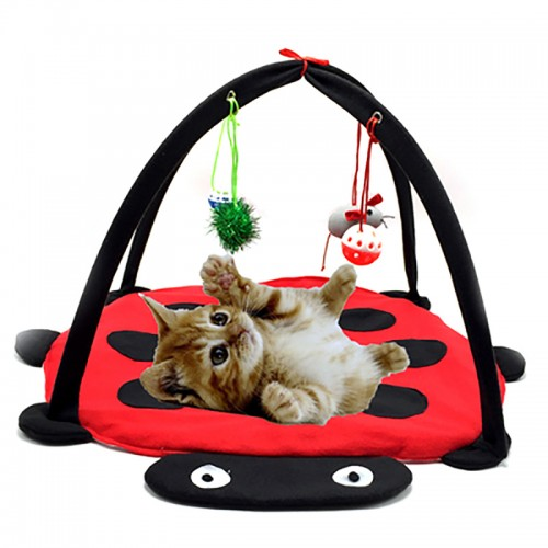 Pet Cat Toys Bed Mobile Activity Playing bed Pad Blanket House