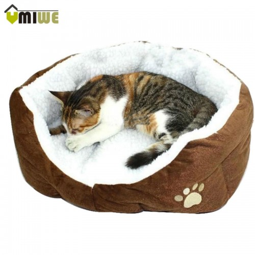 Umiwe Washable Soft Warm Paw Style Cat Beds Nest Pad Mat Fleece Pets House Cat