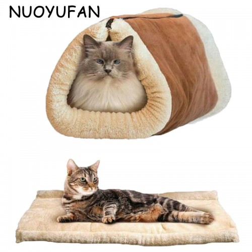 Warm sleeping bag Pet Cat Tunnel Soft House Pet Nest Small