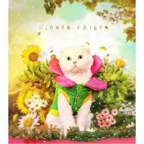 Cat Clothes Warm Cute Flower Down Parkas Costume Spoof Styles Clothes