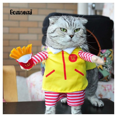 Cute Pet Cat Costume Suit Clothes Party Halloween Dress