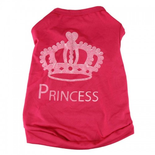Fashion Pet Cat Cute Crown Princess T Shirt Clothes Vest Summer Coat Clothing Pet