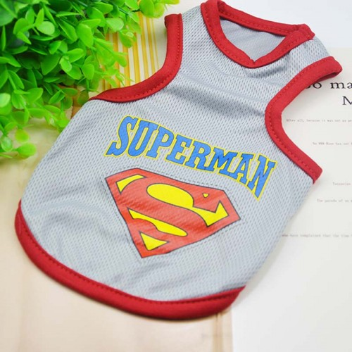 Fashion Pet Cats Clothing Vest Batman Superman sleeveless Clothing For Small Cat Vest Clothes