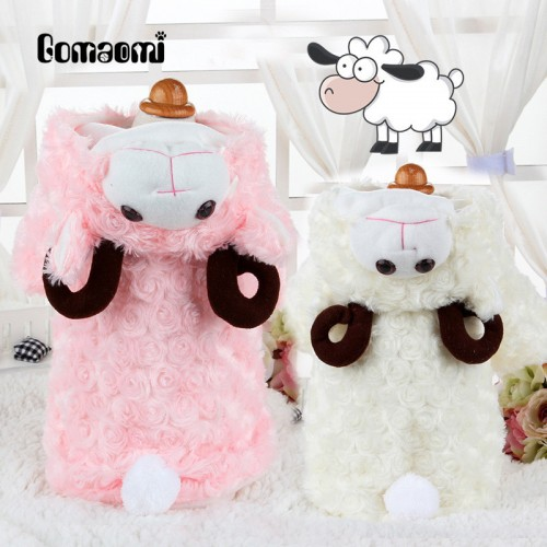 Gomaomi Pet Cat Sheep Costume Party Clothes Clothing Cosplay