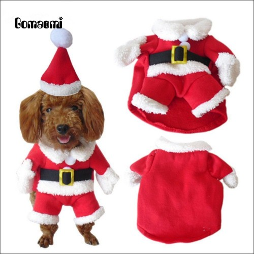 Gomaomi Pet Christmas Costumes Clothes Hoodie Suit with Cap