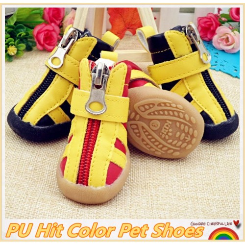 Shoes Winter Rubber Sole Anti Slip Pet Booties