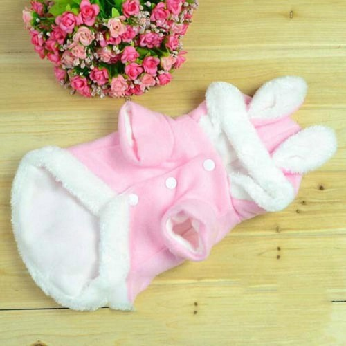 Warm Pet Clothes For Cats Cute Rabbit Pattern Cheap Pet Coats Wearing Clothes
