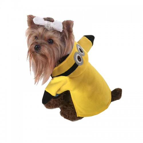 clothes for cats Minion animals funny costume Coat Hoodies Transformation Cartoon clothing dress