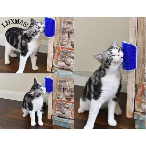 Brush Comb Cat Massage Self Groomer With Catnip Play Toy