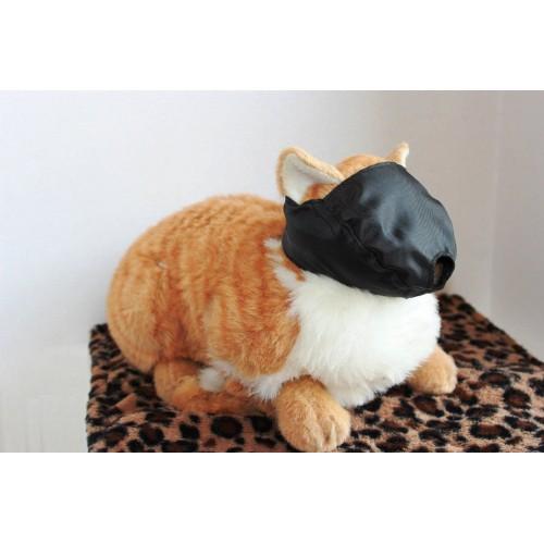 Cat Grooming Muzzle Adjustable Black Nylon Quick Fit Washable Bathing Snout