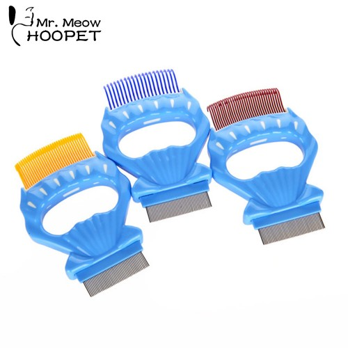 Pet Grooming Shell Comb Cat Accessories Remove Hair Soft Plastic Handle Brush Hair