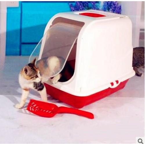 Cat Bedpans Totally Closed Cat Toilet Pet Litter Box Plastic Bedpan