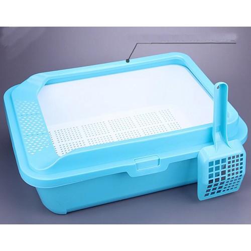 Pet cat litter basin semi enclosed Toilet bedpan with Mini durable the litter
