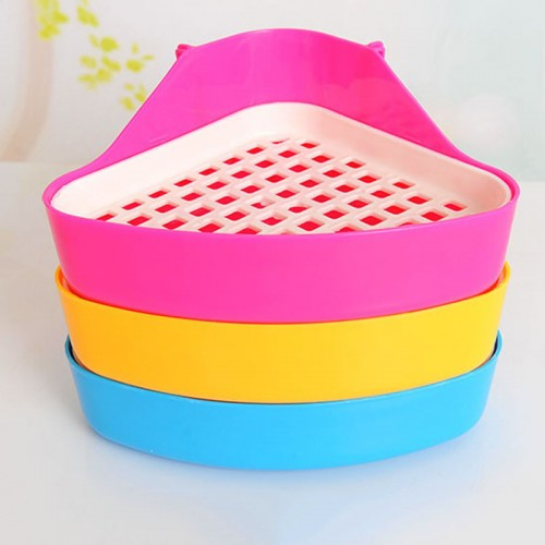 Useful Pet Cat Rabbit Pee Toilet Small Animal Hamster Litter Tray Corner Pet Litter