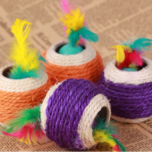 Big Six Holes Sisal Ball Scratch Ball Cat Toys Pet Balls Products Diameter