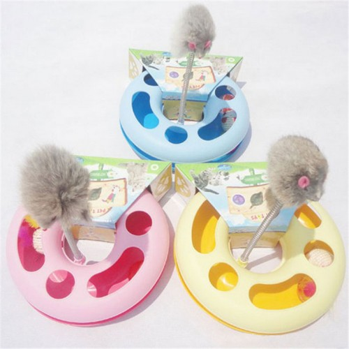 Cat Toy Pet Kettle Spring Mice Crazy Amusement Disk Multifunctional Disk Play