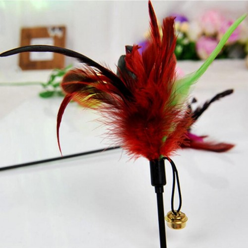 Fashion Cats Play Feather Teaser Small Bell Type Cats Toy Ultra long Rod Pets Toy