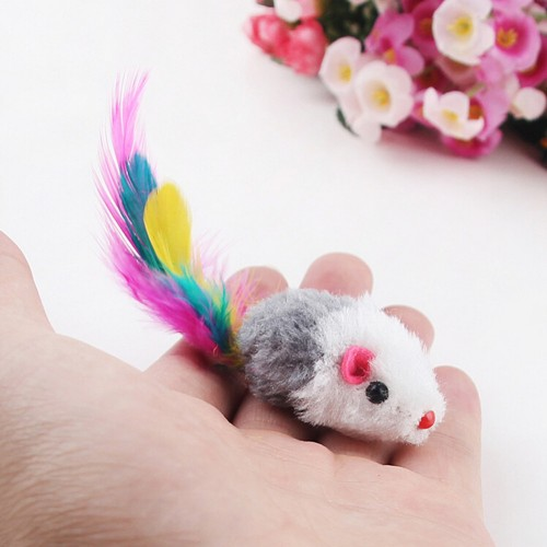 Funny False Mouse Rat Toys for Cat Kitten Colorful Plush Mini Mouse Toys