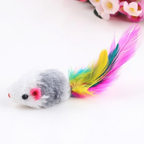 Funny False Mouse Rat Toys for Cat Kitten Pet Colorful Plush Mini Mouse