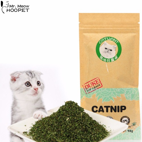 Natural Organic Premium Catnip Catmint Menthol Flavor Cat Treats Funny Toys for Kittens