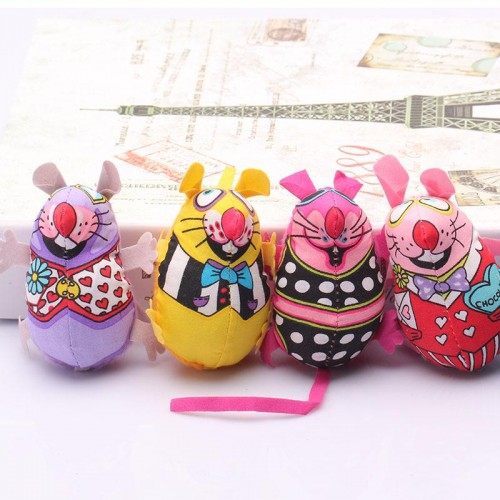 Pet Product Fat Cat Toy Fat Canvas Colorful Mouse With Cat mint Catnip Funny