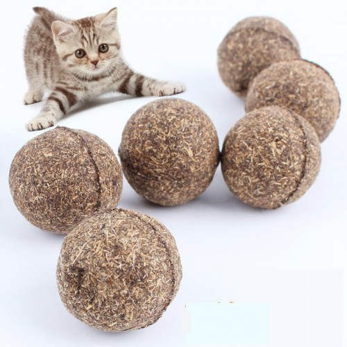 Pet Products Cat Toy Natural Catnip Ball Menthol Flavor Cat Treats Cats go crazy