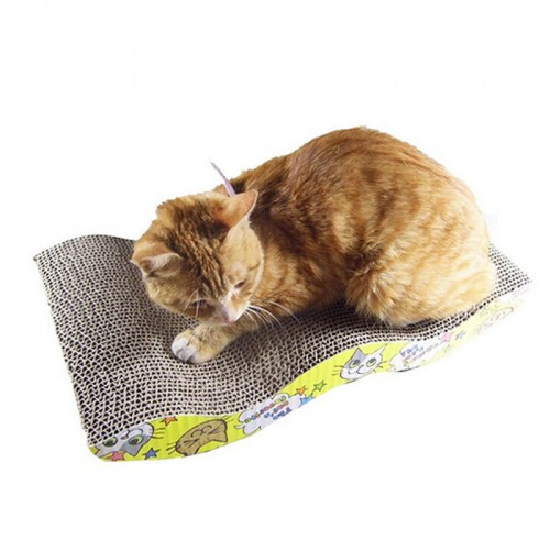 Pet Scratch Board S shapped Cat Scratch Board Scratching Posts Kitten Corrugated Scratch Pad Claw Pad