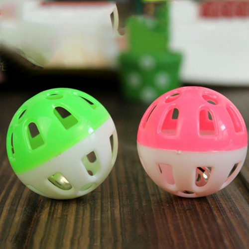 Promotion Cheap Lovely Tinkle Bell Ball Pet Toy Plastic Dog Cat Playing Ball Good Quality Stocked