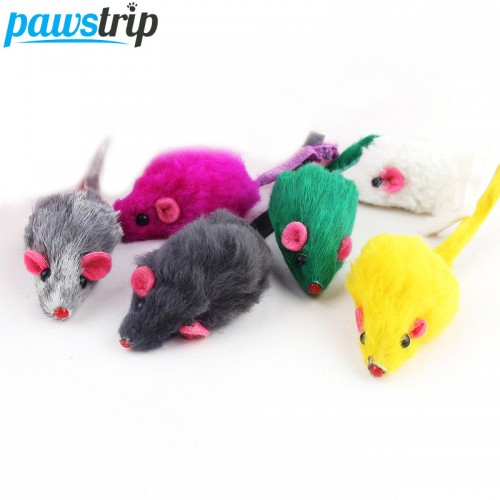 Rabbit Fur False Mouse Pet Cat Toys Mini Funny Playing Toys For Cats Kitten