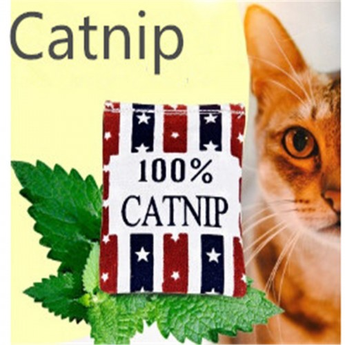linen catnip bags catnip toys different colors supply cat love it pet catnip mint