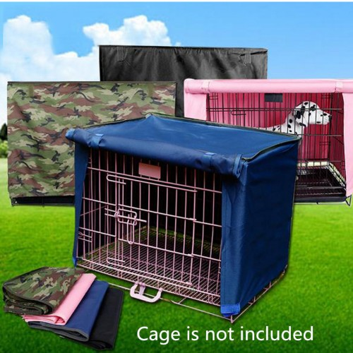 Washable Pet Dog Cage Cover foldable cat house cover kennel accessories pink blue black green waterproof