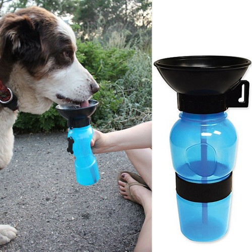 Drinking Feeder Travel Sport Water Bottle Outdoor Feed Drinking Bottle Pets Supply Portable Convenient fits