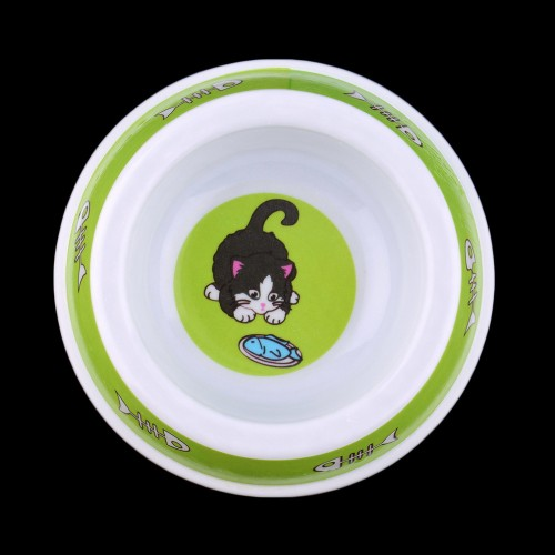 Plastic Pet Cat Slow Eating Feed Bowl Food Water Feeder Dish Worldwide Store