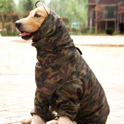Male Dog Raincoat Large Dog Clothes Big Dog Waterproof Clothing Rain Coat Jumpsuit Costume Pet Product