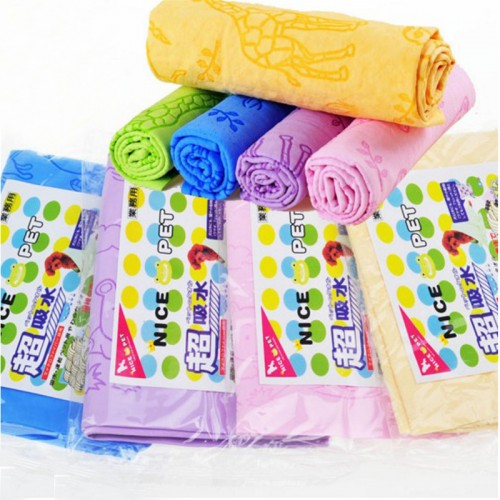Multifunctional pet dog bath washing towel deerskin suede towel deerskin towel synthetic super absorbent