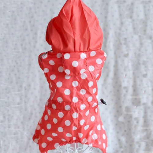 Pet Dog Clothes Fashion Waterproof Fabric Layers Dots Printing Three Color Dog Raincoat Clothing
