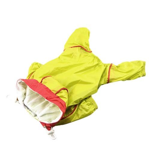 Pet Dog Hoodie Jacket Coat Puppy Waterproof Raincoat Costume Candy Color