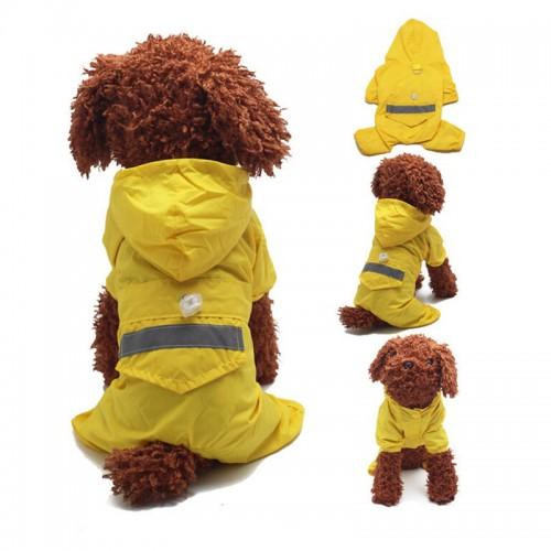 Pet Dog Raincoats Hood Reflective Puppy Raincoat Waterproof Jacket For Dog Supplies