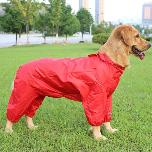 Pet dog clothes sportswear waterproof outdoor clothing in large dogs golden raincoat