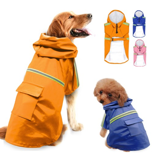 Raincoat For Dogs Waterproof Dog Coat Jacket Reflective Dog Raincoat Clothes For Small Medium Large Dogs