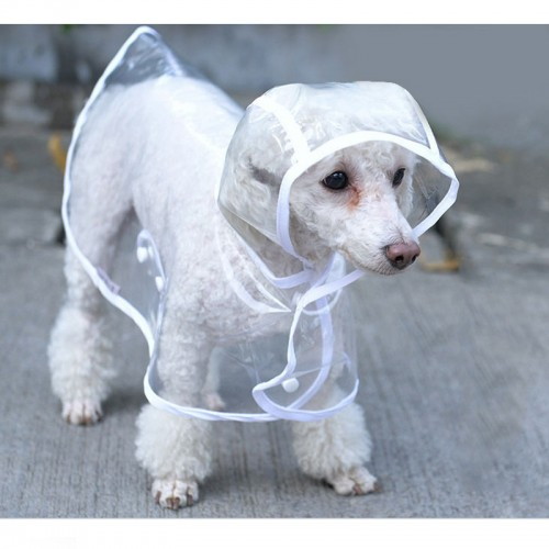 petcircle Fashion Pet Dog RainCoat Jacket Clothes Dogs Puppy Raincoats Transparent Waterproof Rainsuit