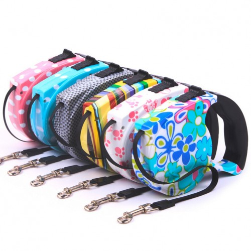 Automatic retractable Pet leashes Leads Walking P Chain Flat Rope Small Pet Multicolor dog leashes