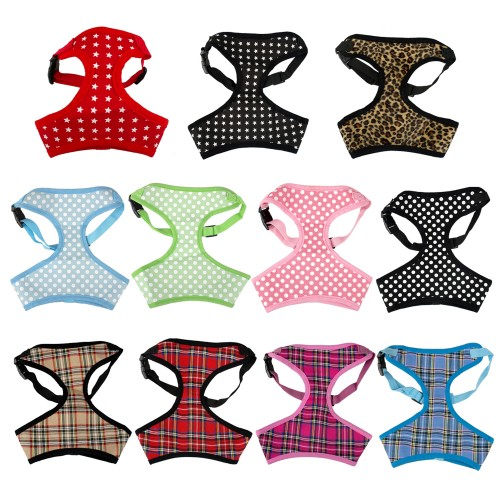 Breathable Printed Mesh Padded Puppy Small Dog Pet Harness