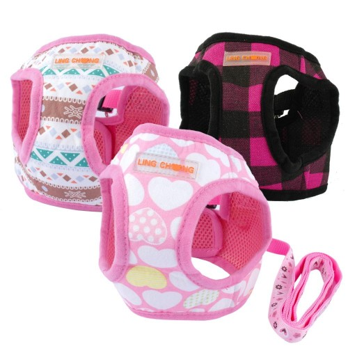 Cute Puppy Dog Harness and Walking Leads Pet Winter Vest for Small Dogs
