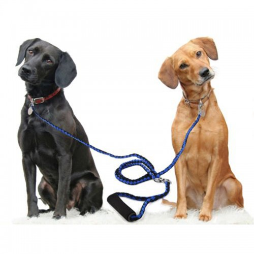 Hand Made Double Dog Leash Braided Tangle Free Double Dog Leash Coupler