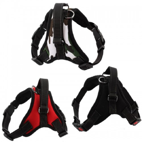 New hot Medium and large dog harness vest Reflective tape yarn Breathable and comfortable mesh pet