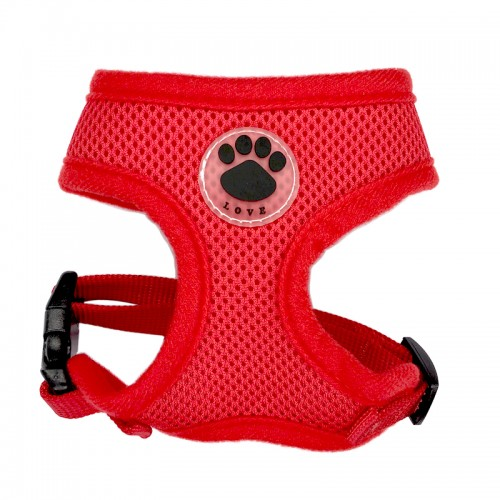 Paw LOVE Rubber Adjustable Soft Breathable Dog Cat Control dog Harness Nylon Mesh Vest harness for Pet